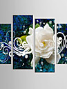 canvas Set Abstrakt Blommig/Botanisk Klassisk Europeisk Stil,Fyra paneler Kanvas Alla Form Print Art väggdekor For Hem-dekoration