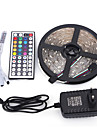 5m 300smd 5050 etanche 44keys ir telecommande 12v3a alimentation led strip light sets ac100-240v