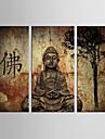toile set Celebre Portraits Abstraits Classique Traditionnel,Trois Panneaux Toile Verticale Imprimer Art Decoration murale For Decoration