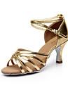 Chaussures de danse ( Noir / Marron / Argent / Or / Leopard / Autre ) - Personnalisables - Talon Personnalise - Satin - Latine / Salsa