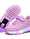 Svart Blå Rosa-Låg klack-Pojkar-Komfort-Läder-Utomhus Fritid Sport-Sneakers