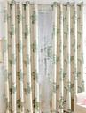 Två paneler Fönster Behandling Europeisk , Blomma Sovrum Linne/Bomull blend Material Mörkläggning Gardiner draperier Hem-dekoration For
