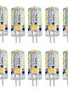 5W G4 LED-lampor med G-sockel T 57 SMD 3014 300 LM Varmvit Kallvit Dimbar AC 12 V 10 st