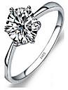 Inel Bijuterii Plastic imitație de diamant stil minimalist La modă Argintiu Bijuterii Nuntă Petrecere Logodnă Zilnic 1 buc