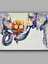 Peint a la main Abstrait Animal Horizontale,Moderne Un Panneau Toile Peinture a l\'huile Hang-peint For Decoration d\'interieur