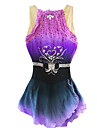 Robe de Patinage Robe de patinage artistique Protectif Perles Paillete Spandex Chinlon Violet Tenue de PatinageVetements de Plein Air