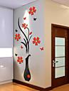 Botanisk Väggklistermärken Väggstickers i 3D Dekrativa Väggstickers,Vinyl Material Hem-dekoration vägg~~POS=TRUNC
