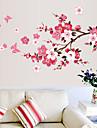 Botanique Stickers muraux Autocollants avion Autocollants muraux decoratifs,Vinyle Materiel Amovible Decoration d\'interieur Calque Mural