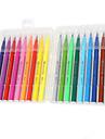 18 couleurs de peinture de bureau costume stylo tete molle aquarelle etudiant