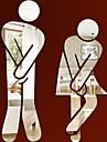 Oameni Perete Postituri Acțibilduri de Oglindă Autocolante toaletă,Vinil Material Detașabil Pagina de decorare de perete Decal