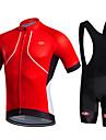 Maillot et Cuissard a Bretelles de Cyclisme Homme Manches courtes VeloRespirable Sechage rapide Permeabilite a l\'humidite Materiaux
