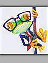 Peint a la main Abstrait Animal Carre,Moderne Un Panneau Toile Peinture a l\'huile Hang-peint For Decoration d\'interieur
