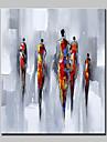 Pictat manual Abstract Oameni Vertical,Modern Stil European Un Panou Canava Hang-pictate pictură în ulei For Pagina de decorare