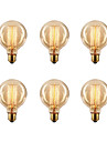 6pcs / lot G80 e27 40w edison glödlampa retro lampa glödlampan (220-240V)