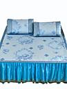 Floral Seturi Duvet Cover 3 Piese Poliester Model Imprimeu reactiv Poliester Întreg Queen 2pcs Shams 1pc Cearceaf Plat