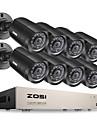 zosi® 8CH 720p hdmi cctv enregistreur video systeme 8pcs kits de surveillance 1280tvl nuit de la camera de vision
