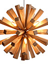 22W Hängande lampor ,  Rustik Rektangulär Särdrag for Flush Mount Lights Trä/Bambu Living Room / Bedroom / Dining Room / Sovrum