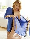 Ultra Sexy Costume Pijamale,Subțire Amestecuri de Bumbac Dantelă-Sexy Dantelă Bloc Culoare Albastru
