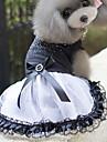 Pisici Câini Rochii Îmbrăcăminte Câini Vara Primăvara/toamnă Prințesă Drăguț Alb-Negru