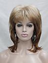longueur moyenne naturellement ondules nouvelle fraise de mode melange blond style en cascade perruque synthetique