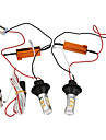 2pcs 1156 Ba15s 50w 42smd DRL clignotants queue inverse conduit de lumiere a double couleur blanche orange DRL 12v eclairage de la voiture