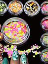 12bottles/set Nail Art-dekoration Strasspärlor makeup Kosmetisk Nail Art-design