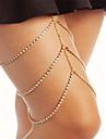 Dame Bijuterii de corp Lănțișor Picior La modă Ștras Geometric Shape Auriu Argintiu Bijuterii Pentru Petrecere Ocazie specială Halloween1