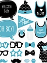 20Piece/Set Baby Shower It\'s Boy Photo Props  Pearl Paper Eco-friendly Material Wedding Decorations-Spring Summer Fall Winter Non-personalized