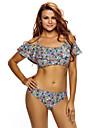 Femei Tankini Femei Bustieră Floral Polyester Spandex