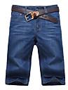 Bărbați Drept Simplu Talie Medie,Micro-elastic Blugi Pantaloni Scurți Pantaloni Mată