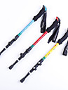 4 Batons de marche Batons Trekking baton de randonnee 130cm (51 pouces) Amortissement Solidite Durable Antiderapant Jaune Rouge Bleu