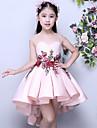 Asimetrica Mikado Vestido de Dama de honor junior       Salon Joya con Apliques