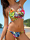 Femei Bikini Femei Cu Susținere Monocolor Floral Sport Dantelat Polyester