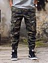 Bărbați Larg Harem Simplu Talie Medie,Micro-elastic Pantaloni Chinos Pantaloni camuflaj