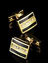 Buton Tie Bar Tie clip Articole de ceramică La modă Cutii de cadouri & Pungi Μανικετόκουμπα Auriu 1 pereche