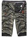 Bărbați Larg Simplu Talie Medie,Inelastic Pantaloni Scurți Pantaloni Maskirni