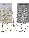 Cercei Rotunzi Bijuterii Design Basic Multi-moduri Wear Clasic Aliaj Round Shape Auriu Argintiu Bijuterii PentruNuntă Petrecere Ocazie