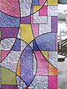 Geometrică Retro Autocolant Geam,PVC a vinyl Material fereastra de decorare