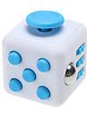 ångest reliever fidget tärningar kubisk kub fidget leksaker för fokusering / spänningsavlastande abs --white&blå