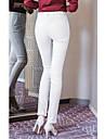 Damă Bodycon OL Style Talie Medie,Elastic Skinny Pantaloni Culoare pură Într-o Culoare