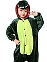 kigurumi Pyjamas Dragon Collant/Combinaison Fete / Celebration Pyjamas Animale Halloween Vert Motif Animal Costumes de Cosplay Pour Enfant