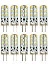 Hkv® 10 buc g4 2w 24 smd 3014 100-200 lm alb cald alb rece condus lumini bi-pin dc 12 v