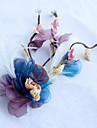 Pene tul din aliaj de țesături net de căști-nunta ocazie ocazional flori în aer liber 1 bucată