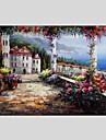 Pictat manual Peisaj Orizontală Panoramic,Modern Clasic Un Panou Canava Hang-pictate pictură în ulei For Pagina de decorare