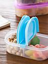 1 st bunk clamshell frukt snacks kylskåp bevarande förseglad skarpare plast mat förvaringslåda behållare slumpmässig färg