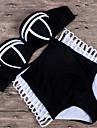 Bikini Cu Susținere Geometrică Acrylic Spandex