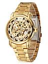 WINNER Bărbați Ceas de Mână ceas mecanic Gravură scobită Mecanism automat Oțel inoxidabil Bandă Luxos Auriu