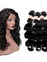 One Pack Solution Cheveux Mongoliens Ondulation naturelle 12 mois 4 Pieces tissages de cheveux