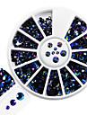1st mode blandad storlek glänsande harts gelé rhinestone dekoration nagel konst rund skiva glitter färgstarka laser flamma rhinestone diy