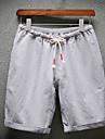 Bărbați Larg Șic Stradă Talie Medie,Micro-elastic Pantaloni Scurți Pantaloni Mată